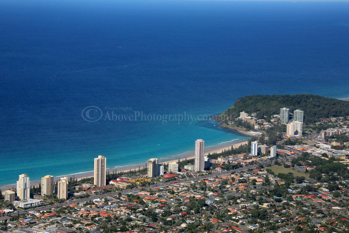 Aerial Photo Of Burleigh Heads  010661  Burleigh Heads