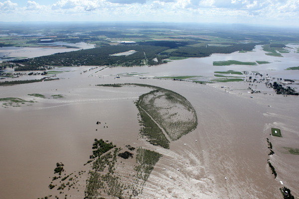 Bundaberg QLD Flooding Aerial Photo